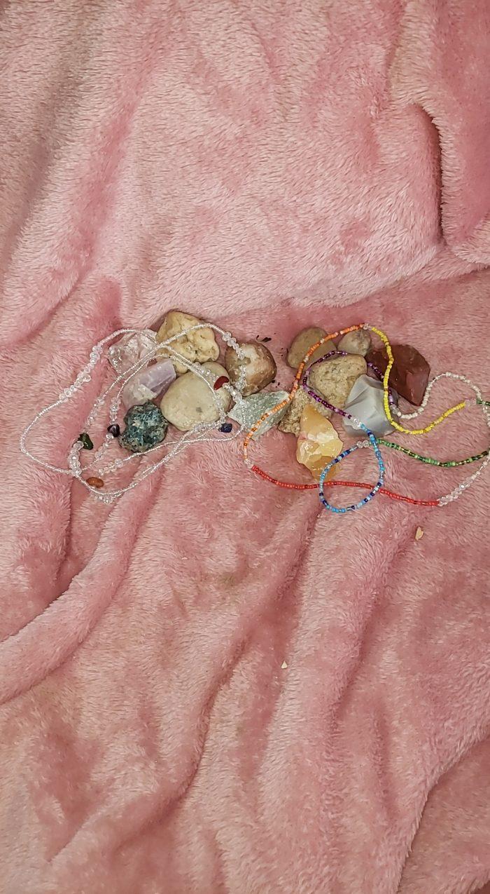 Waistbead Chakra set… crystals and colors