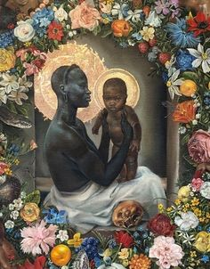 This Artist Reimagines Classic Paintings With God As A Black Woman And They're Beautiful