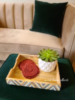 Coaster Set in Red Amber and many more beautiful colors