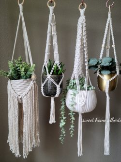 Plant hangers by Sweet Home Alberti