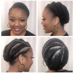 Flat Twists on Fine Natural Hair