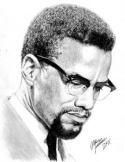 Drawing of Malcolm X