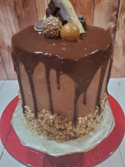 Chocolate Cake with Nutella Mascarpone Filling