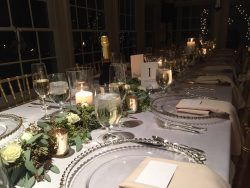winter wedding dinner table setting