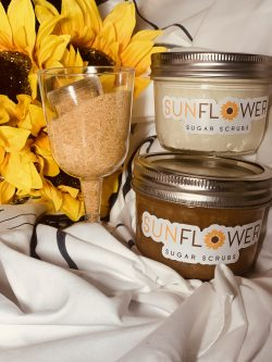 Sunflower sugar and body butters