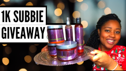 [OPEN] 1K SUBSCRIBER GIVEAWAY 🎉 | FREE Natural Hair Products Giveaway | VLOGMAS DAY 8