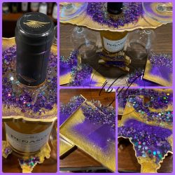 Wine Rack & Coaster Set