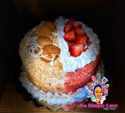 Half Banana Pudding Half Strawberry Shortcake Cake
