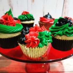 Kwanzaa Colors on Cupcakes