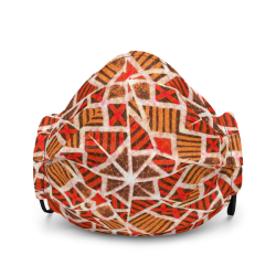 Reusable African Print Face mask (Orange) ⋆ KPXchange