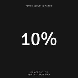 New customer discount!
