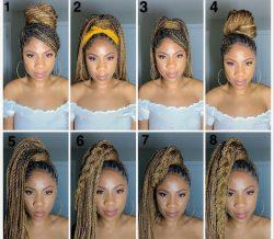 Box braid styles