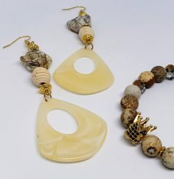 Jasper and Crown Bracelet and Earring Set – Notable Jewels