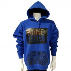 Blue Hoodie | Afro Print Hoodie | Streetwear | Fashion | Style | African American Clothing | Bla ...