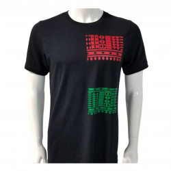 Black Tshirt | African Print Shirt | Afrocentric clothing | Black Owned Clothing Brand | Black O ...
