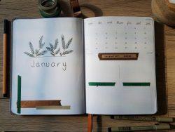 January Spread ~ Bullet Journal