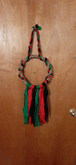 Pan African wreath for Kwanzaa