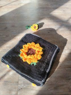 Crochet Sunflower Blanket and Headband