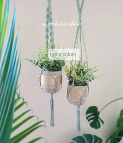 Set of 2 Macrame Plant Hangers available in beautiful colors