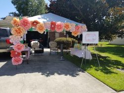 Baby shower flower wall, 2020 drive by