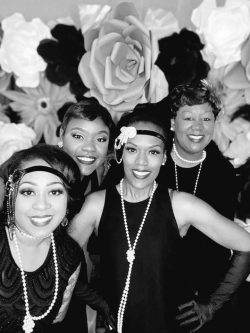 1920's birthday party theme. Flower wall backdrop