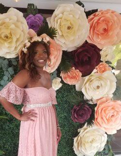 Bohemian Wedding paper flower wall