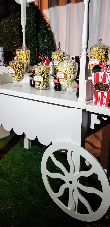 Minnie Movie Night popcorn bar