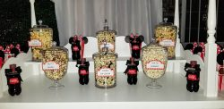 Minnie Movie Night popcorn bar
