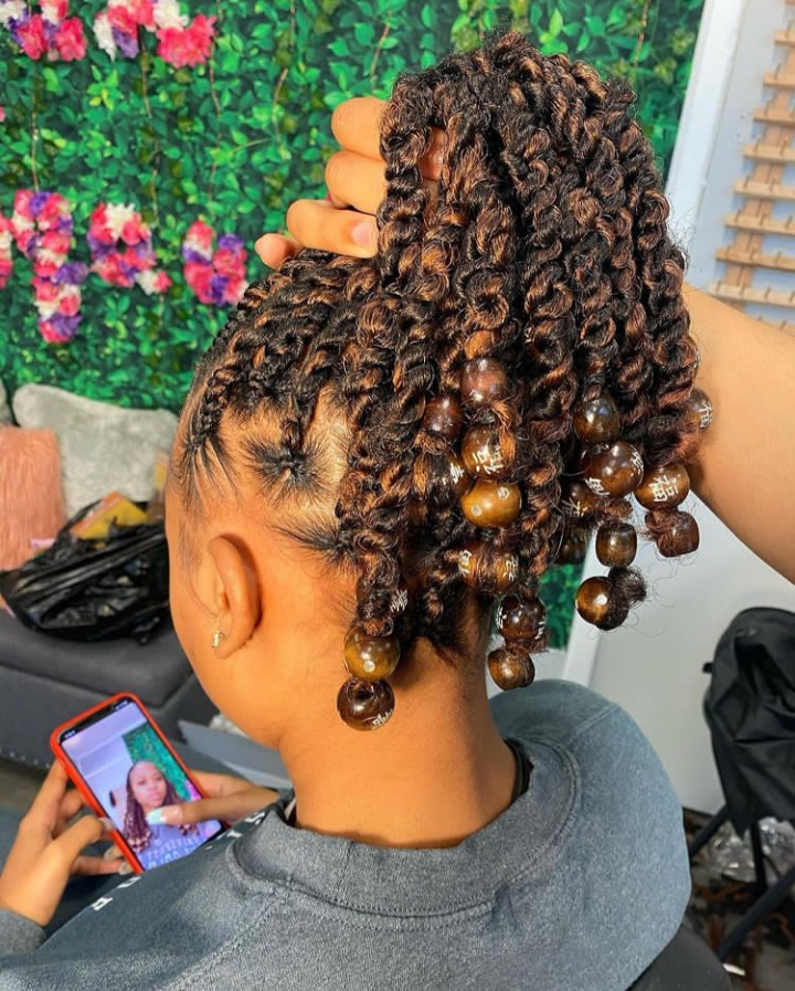 Tribal Twists with beads