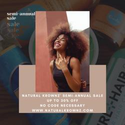 Natural Krownz Semi-annual Sale
