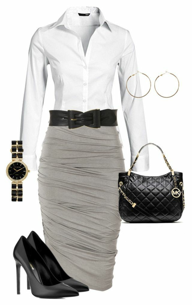 Grey, white and black