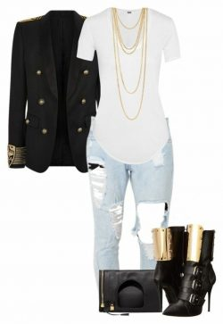 Gold and denim