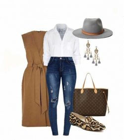 Cheetah flats and jeans