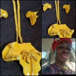 AFRICAN JEWELRY SET – MAP OF AFRICA JEWELRY ( ETSY)…….. Please check out link  ...