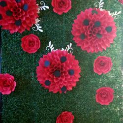 Ladybug Flower Wall, Baby Shower Ladybug Theme