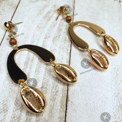 Golden Cowrie Earring
