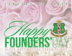 The 1st black Greek Sorority. Founded January 15, 1908 on the campus of Howard University.