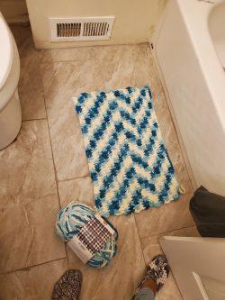 Crochet bath rugs