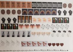 Black history month nail decals. Celebrate black history month with these designs to make a stat ...