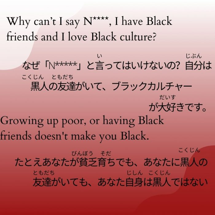 Black Lives Matter in Japanese