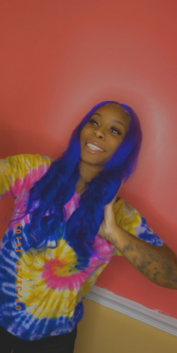Custom Colored Lace Frontal Wig Install By @iamshystaccs 💙