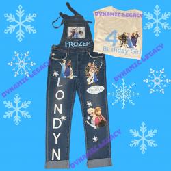 Kids Diy Frozen Birthday outfit