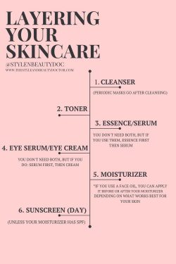 how to layer skincare 🌸