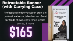 Customized retractable banner