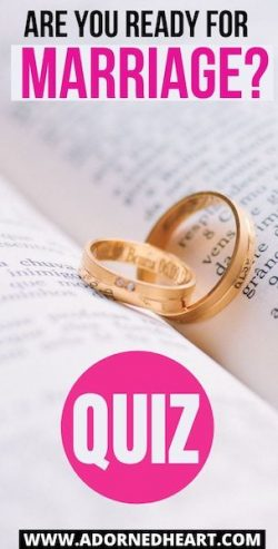 I Am Not Ready for Marriage! Quiz!
