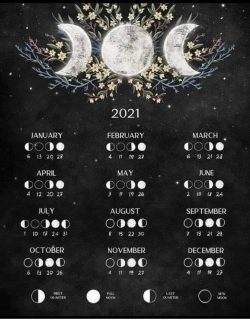 Moon phases this year.