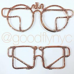 Copper wire wrapped God and Goddess Glasses by @goodflynyc
