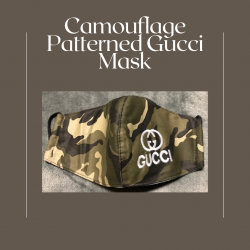 Camouflage Patterned Gucci Mask