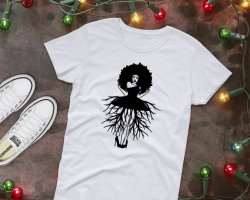 Shop or Vend with Got2bcre8tv Marketplace: Afro Woman with roots t-shirt