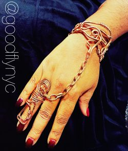 Copper Bracelet and Ring Set by Good-Fly NYC